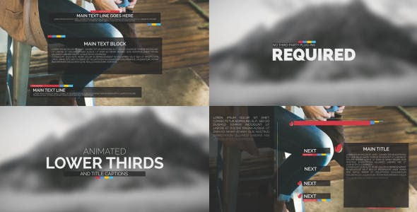 VIDEOHIVE TYPOGRAPHY PACKAGE – LOWER THIRDS AND TITLES