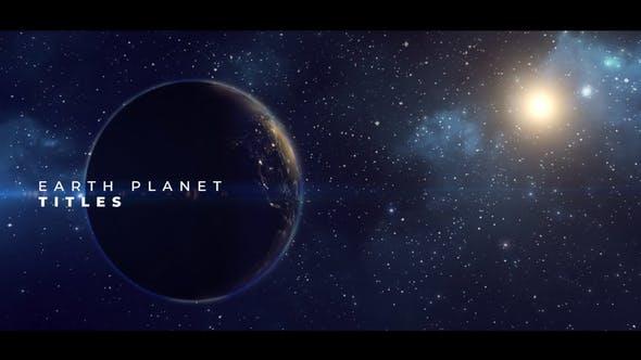 VIDEOHIVE EARTH PLANET TITLES – PREMIERE PRO