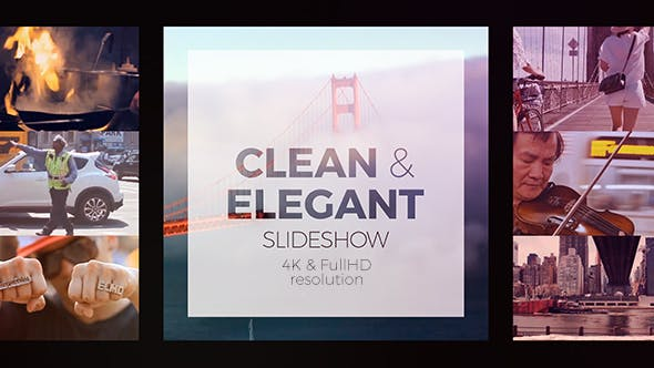 VIDEOHIVE CLEAN ELEGANT SLIDESHOW