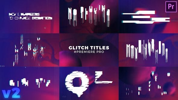 VIDEOHIVE GLITCH TITLES SEQUENCE MOGRT - PREMIERE PRO