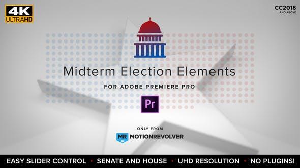 VIDEOHIVE MIDTERM ELECTION ELEMENTS – HOUSE & SENATE | MOGRT FOR PREMIERE PRO
