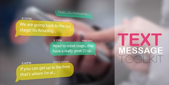 VIDEOHIVE TEXT MESSAGES | TEXT MESSAGE KIT