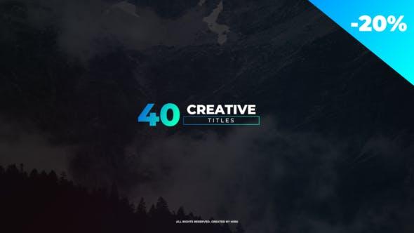 VIDEOHIVE CREATIVE TITLES 23041258