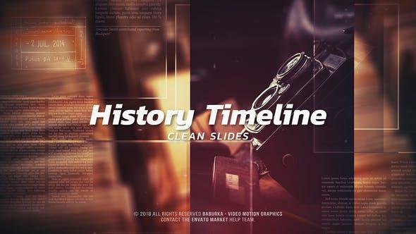 VIDEOHIVE HISTORY TIMELINE – CLEAN SLIDES