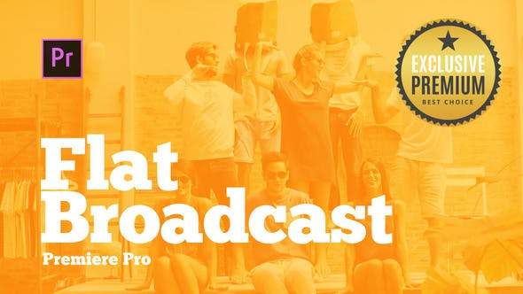 VIDEOHIVE BROADCAST PACK FLAT FOR PREMIERE PRO