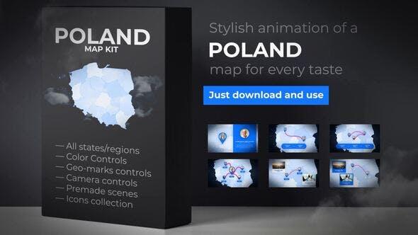 VIDEOHIVE POLAND MAP – REPUBLIC OF POLAND MAP KIT