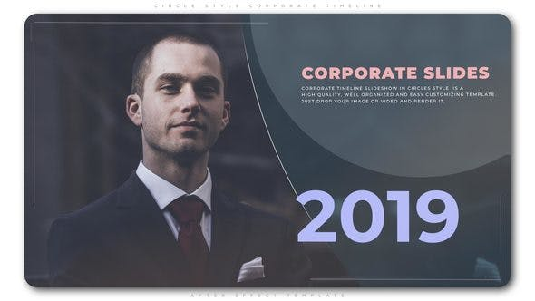 VIDEOHIVE CIRCLE STYLE CORPORATE TIMELINE