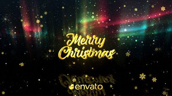 VIDEOHIVE CHRISTMAS AURORA LIGHTS GREETINGS