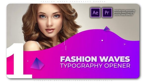VIDEOHIVE FASHION WAVES TYPOGRAPHY OPENER – PREMIERE PRO