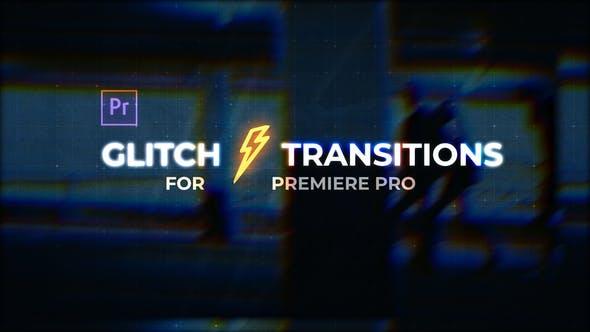 Videohive Glitch Transitions for Premiere Pro