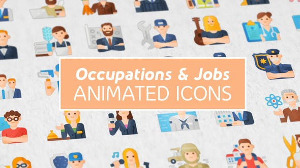 Occupations & Jobs Modern Flat Animated Icons 25388705