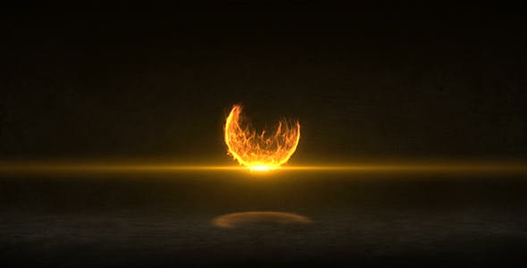 Fire Ball Logo Reveal