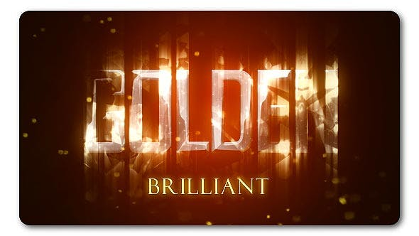 Golden Brilliant Logo Reveal