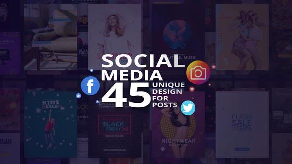 Social Media - 45 Unique Design for Posts