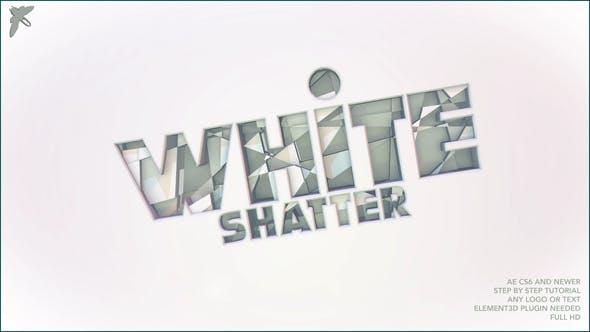 White Shatter Logo