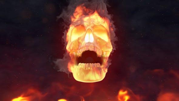 Fire Skull Logo Reveal