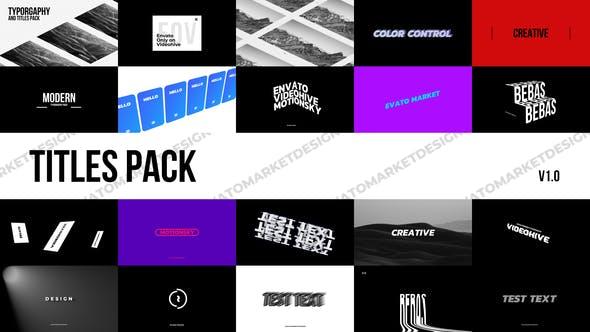 Modern Titles Pack