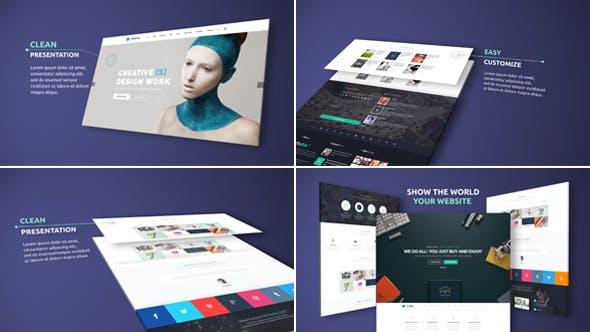 Elegant Website Presentation