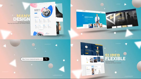 Abstract Website Mockup Promo