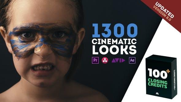 1300 LUTs Color Presets Pack | Cinematic Looks - Premiere Pro