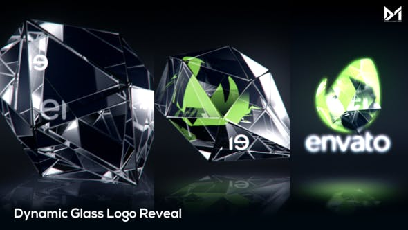 Dynamic Glass Logo Reveal