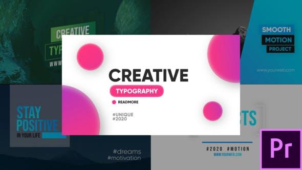 Creative Typography Premiere Pro