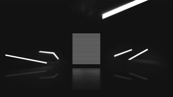Minimal Black and White Logo Reveal