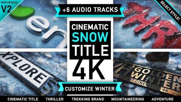 Winter Snow Logo Title v2