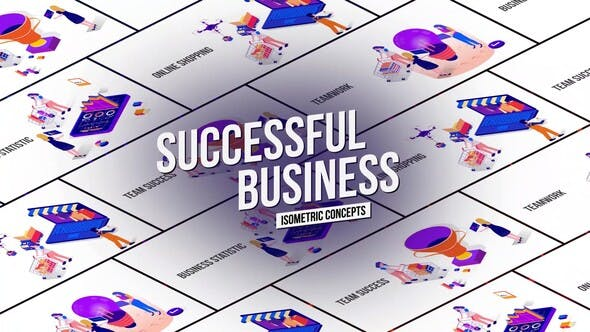Successful Business – Isometric Concept