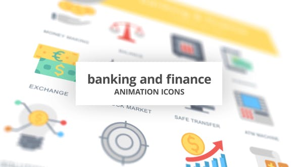 Banking and Finance – Animation Icons