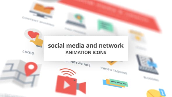 Social Media and Network – Animation Icons