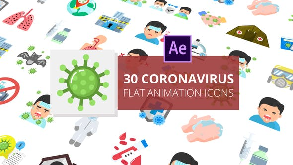 Coronavirus Flat Animation Icons