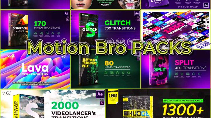 Motion Bro All Packs For After Effects