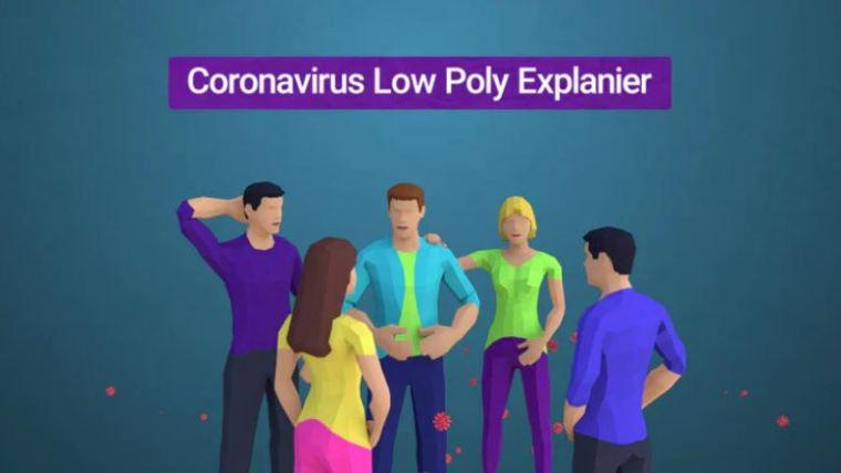 Corona Virus Explainer (Low Poly Style)