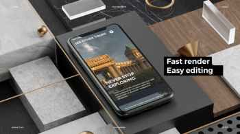 Phone 11 Pro App Presentation Mockup