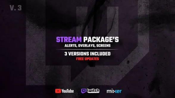 Stream Packages Alerts, Overlays, Screens V3