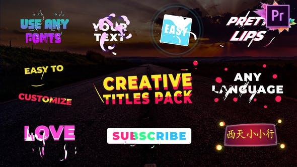 Creative Titles | Premiere Pro MOGRT