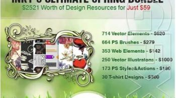 InkyDeals – Inky's Ultimate Spring Bundle: $2,521 Worth of Design Resources