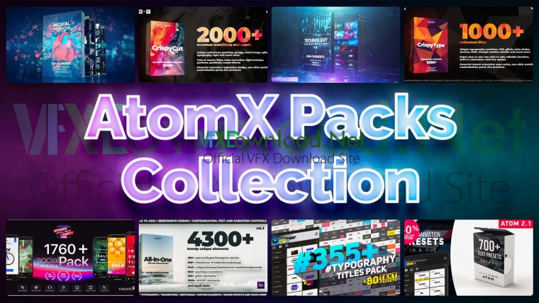 AtomX Packs Collection 2020 Updates
