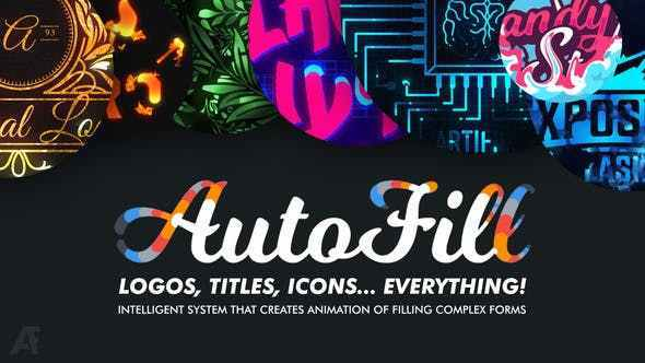 AutoFill Automatically Animate Titles, Logo Reveals, Animate Icons Free Download