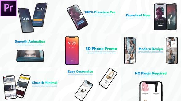 3D Smartphone Presentation for Premiere Pro