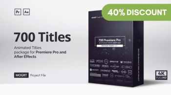 Mogrt Titles – 500 Animated Titles for Premiere Pro & After Effects V4