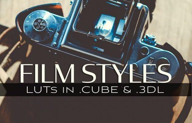 CreativeMarket 3d LUTs – Film Styles 5027768