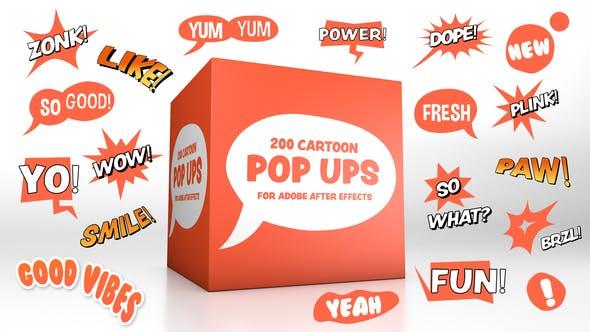 Cartoon Pop-Ups
