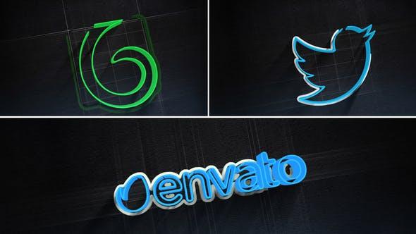 3D Stroke Logo Reveal
