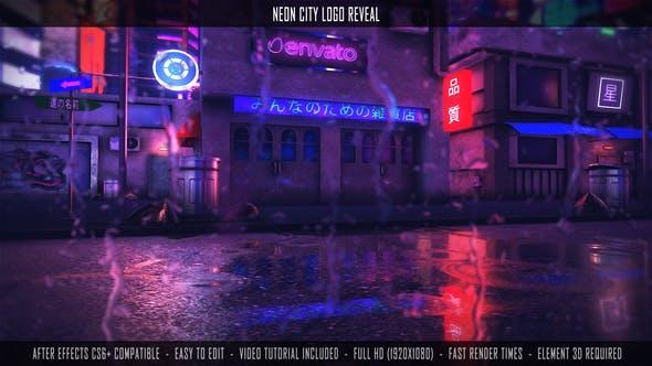 Neon City Logo Reveal