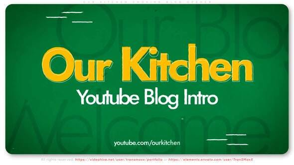 Our Kitchen - Cooking Blog Opener