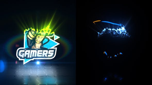 Glitch Cell Logo Reveal