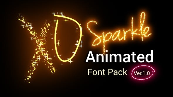 Sparkle Animated Font Pack - Version 2.00