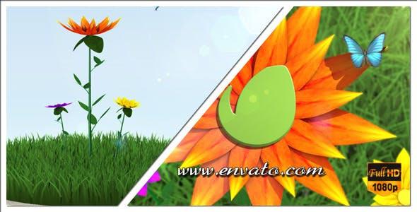 Flower Logo / Text Opener